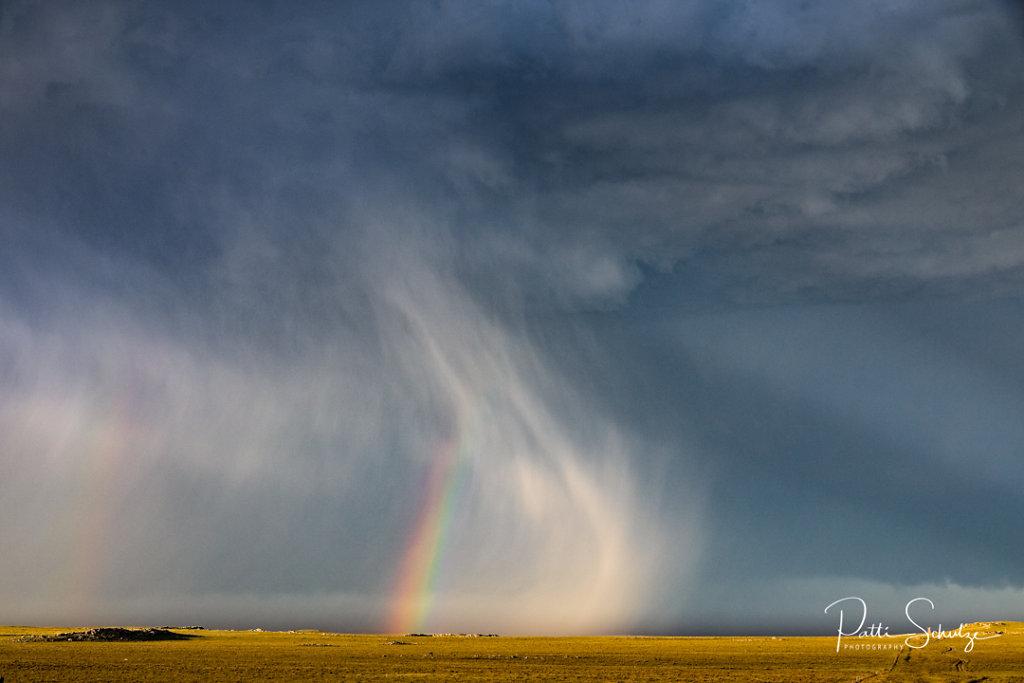 Rainbow and Hail Shaft